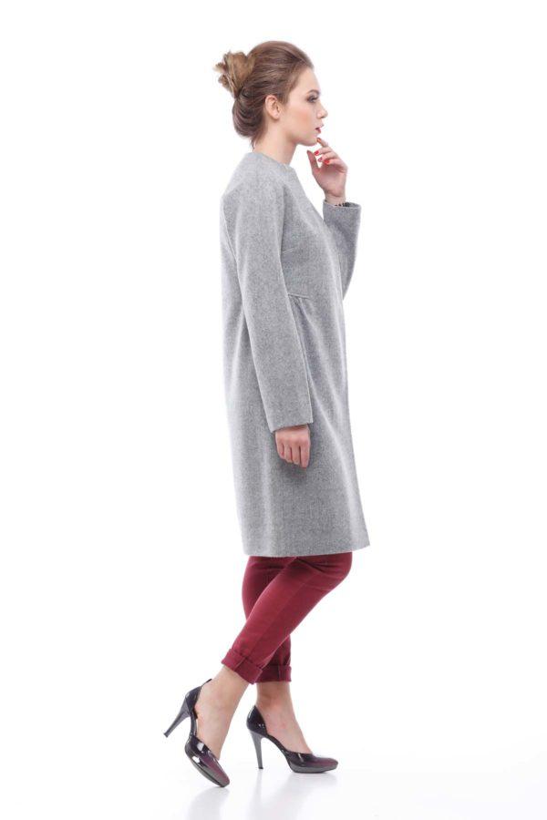 Купить весеннее пальто Лукреция светло - серая Nick