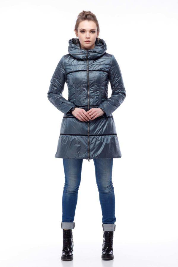 Пальто стеганое Василиса, ful dal, жемчужно-серый