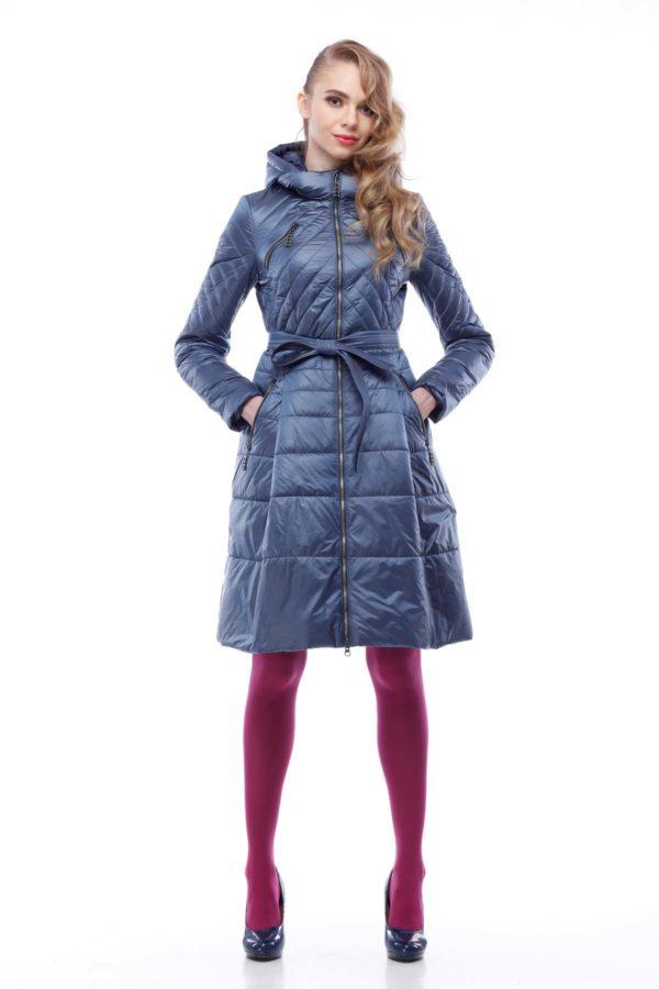 Пальто Аврора сіро-блакитний нейлон