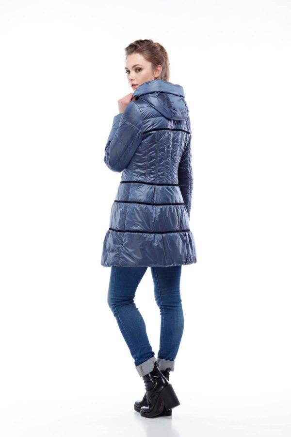 Пальто стеганое Василиса, нейлон, светло-синий