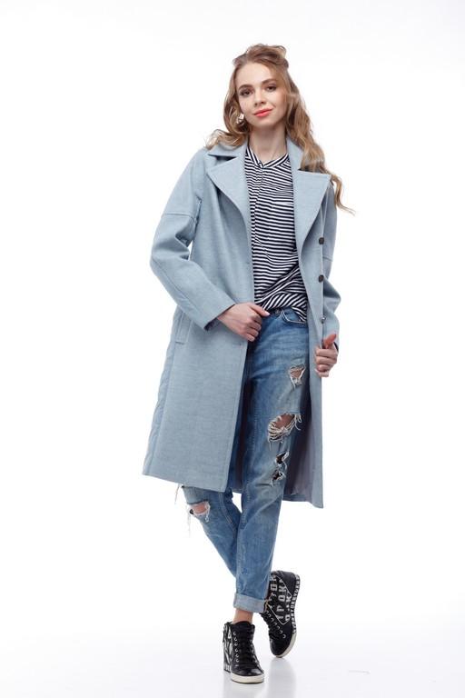 Купить Пальто стеганное Монреаль аквамарин шерсть _nick