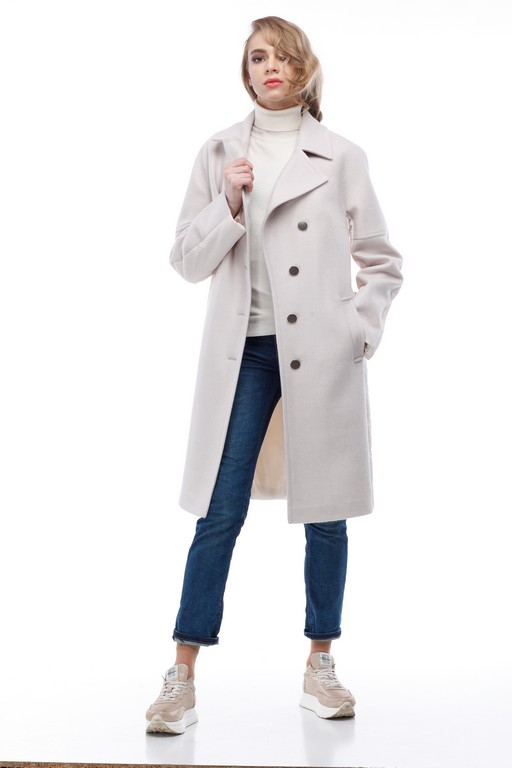 Купить Пальто стеганное Монреаль зефирный шерсть _nick