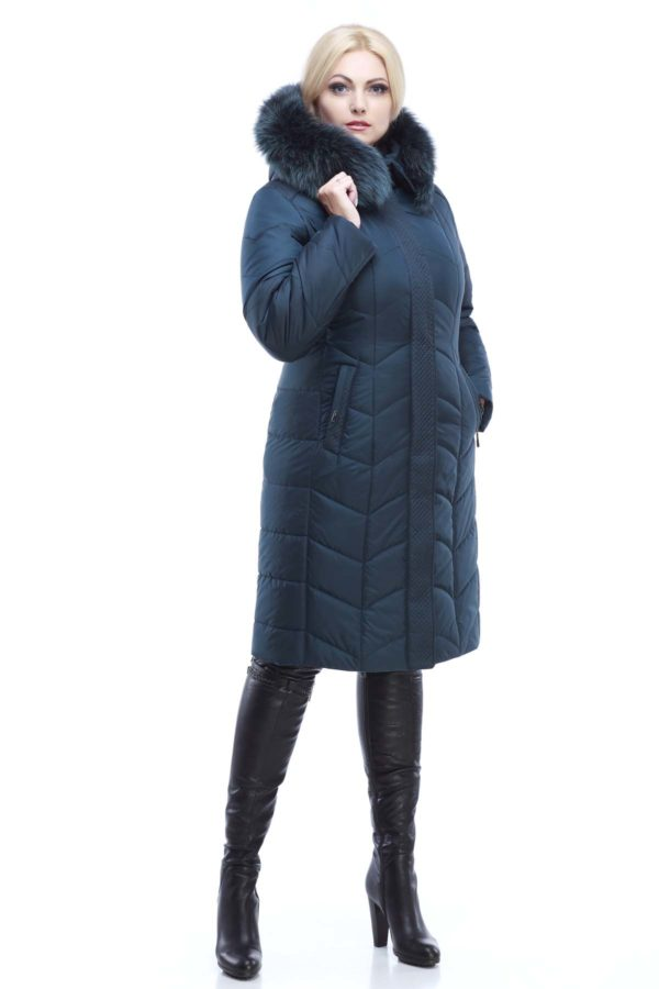 Зимнее пальто стеганое Невада ТЕМНАЯ БУТЫЛКА