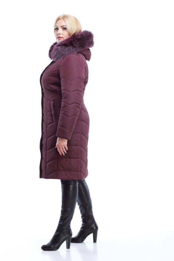 Зимнее пальто стеганое Невада бордовый