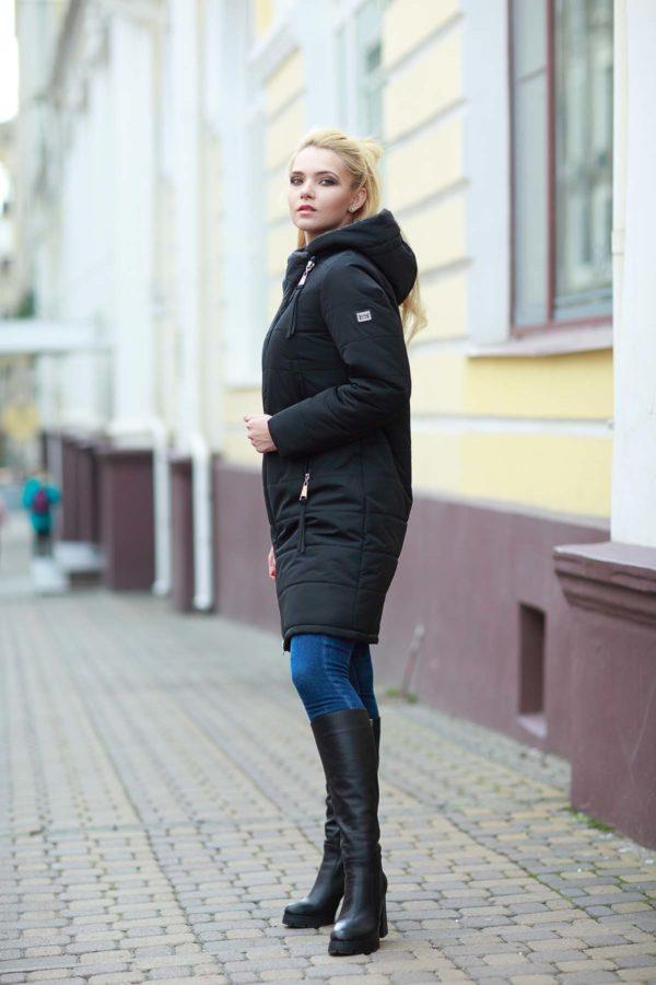 Пальто стеганое Аляска, черный