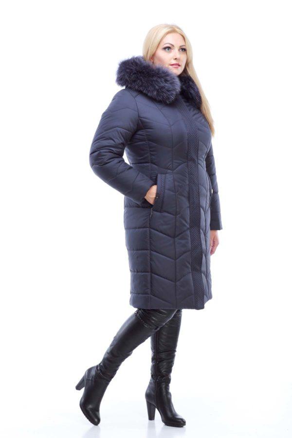 Зимнее пальто стеганое Невада графит