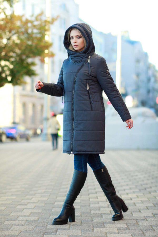 Пальто стеганое Аляска, графит