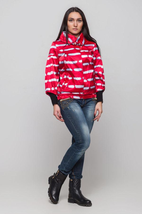 Купить куртку Модница красный укороченный рукав