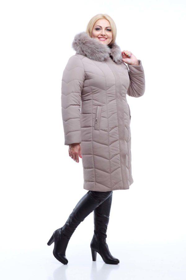 Зимове пальто стьобана Невада латте