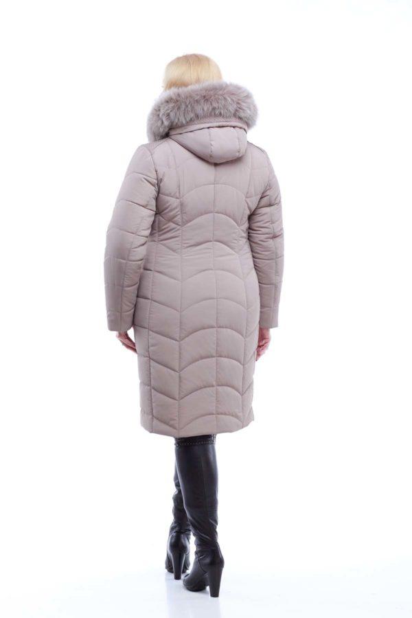 Зимнее пальто стеганое Невада латте