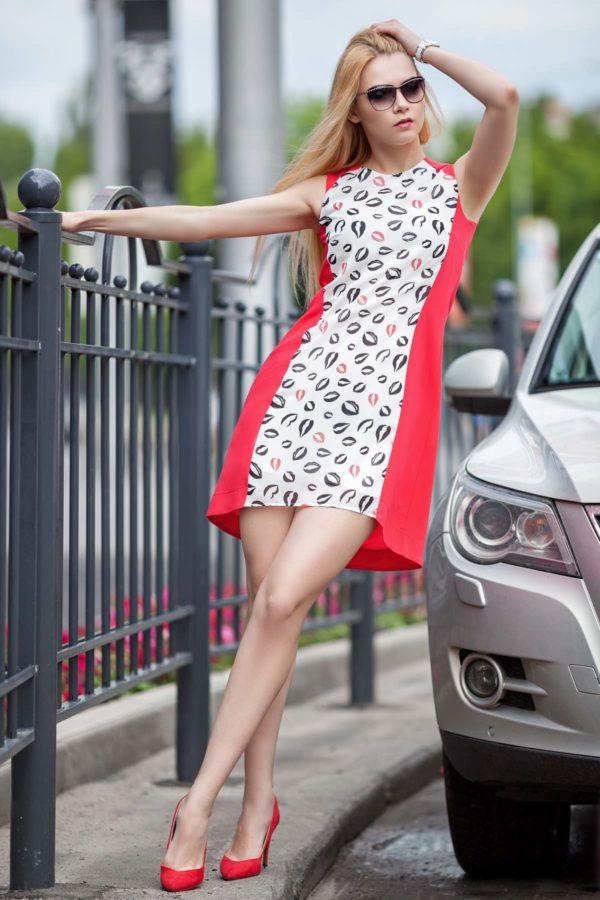 Купить платье Габби малиново красный