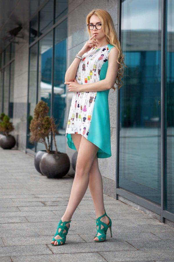 Платье Габбі м'ята