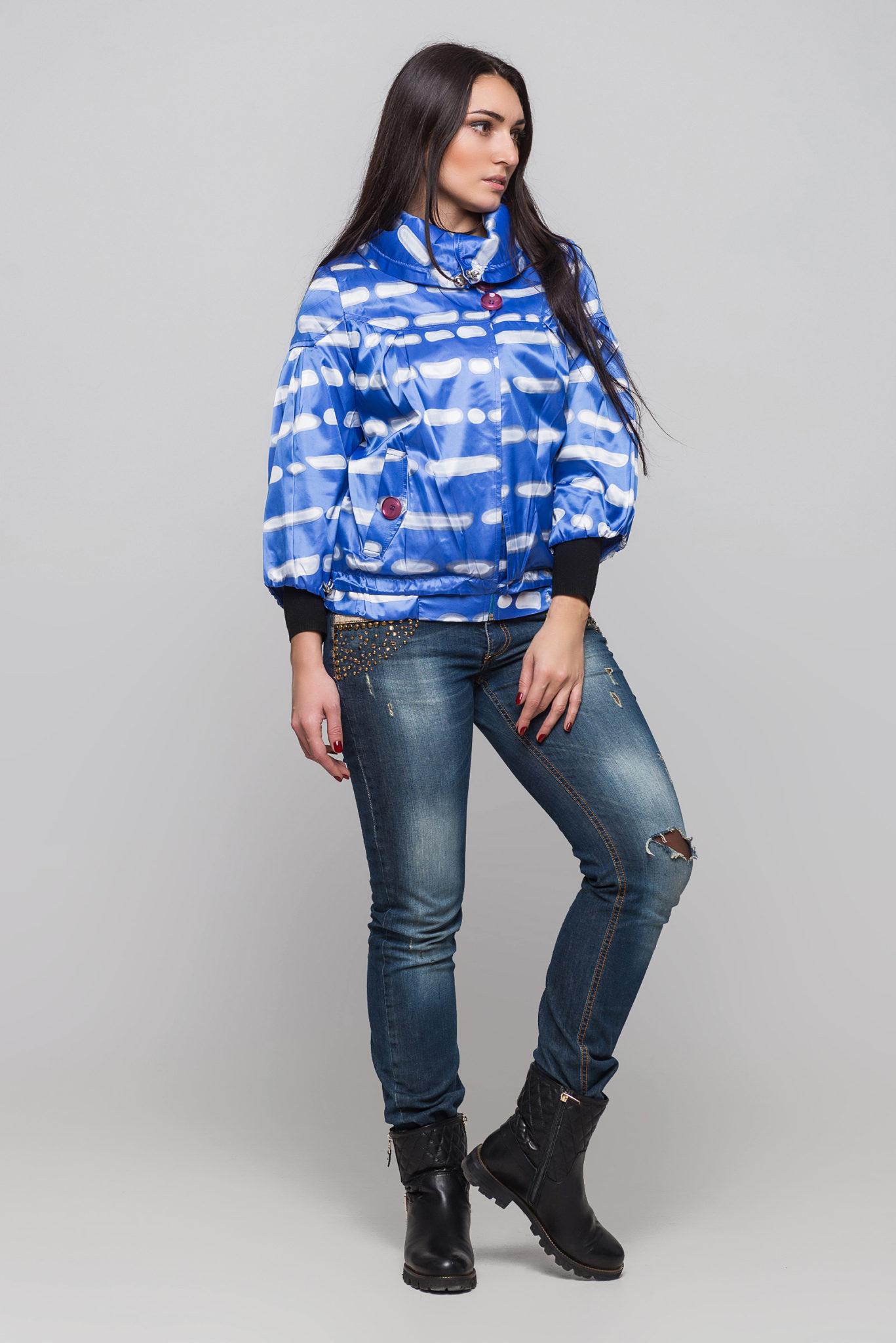 Купить куртку Модница синий укороченный рукав