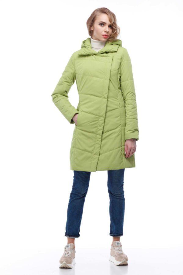 Пальто стеганое Лика ammy лайм