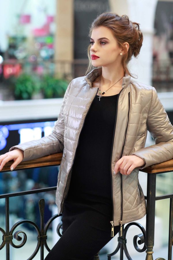 Куртка Жасмин сталевий
