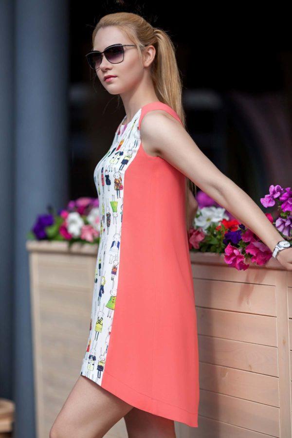 Купить платье светло-коралловый