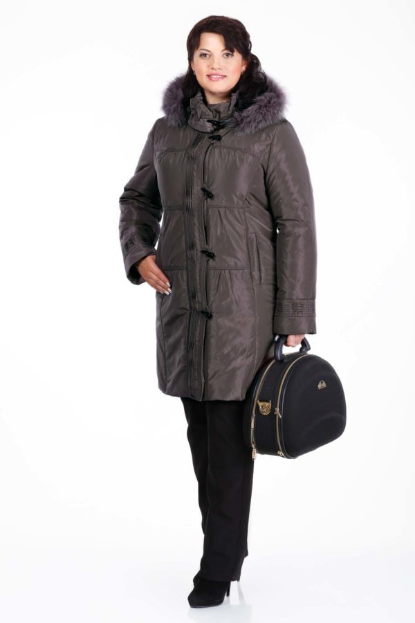 Зимова куртка Беатріс, memory темно-коричневий
