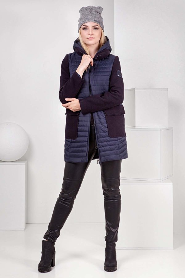 Куртка Джессіка шерсть ful dal темно-синя №8