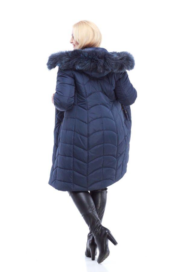 Зимнее пальто стеганое Невада темно-синий