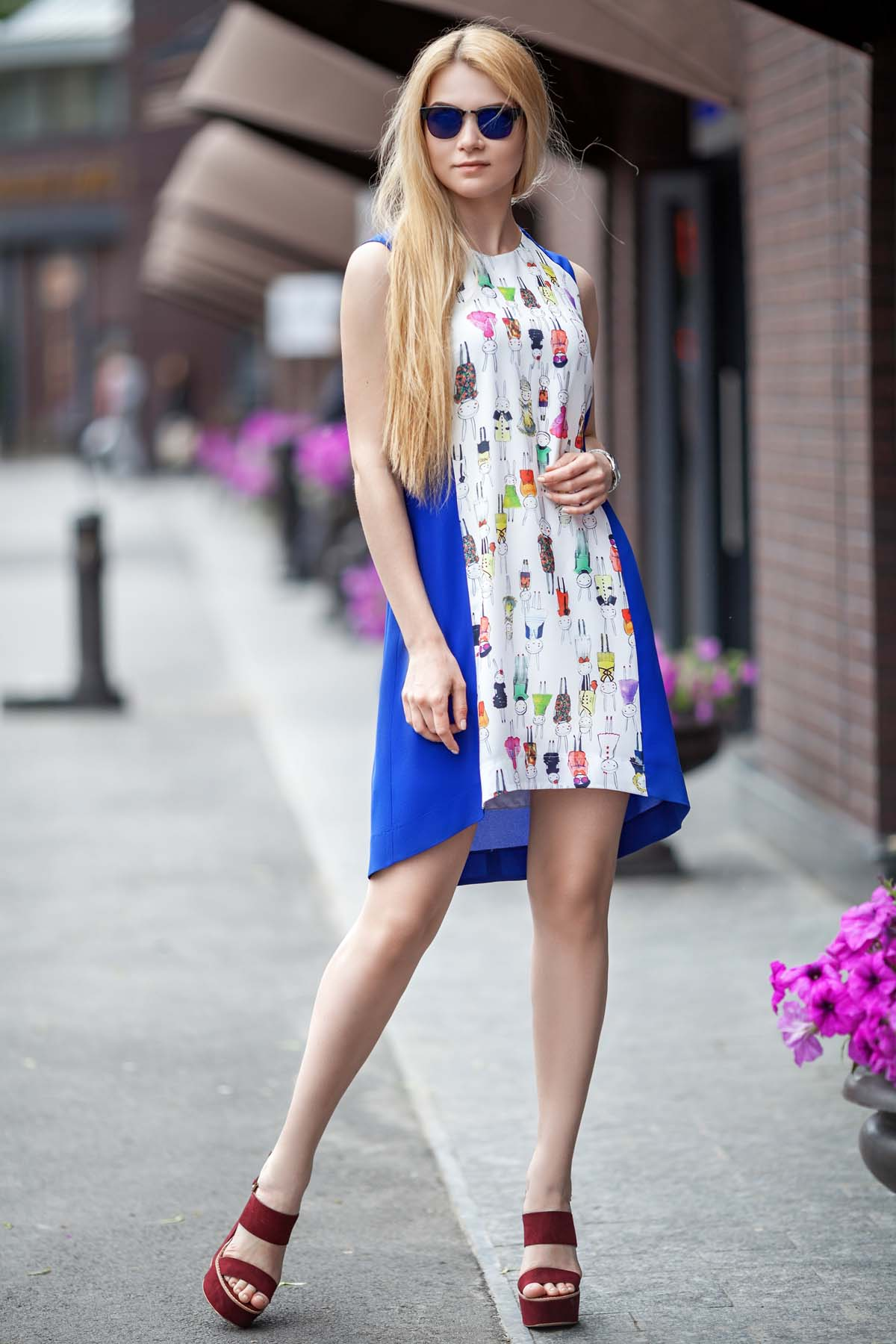 Платье Габбі волошка