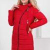 Пальто стеганое Аляска, ярко-красный
