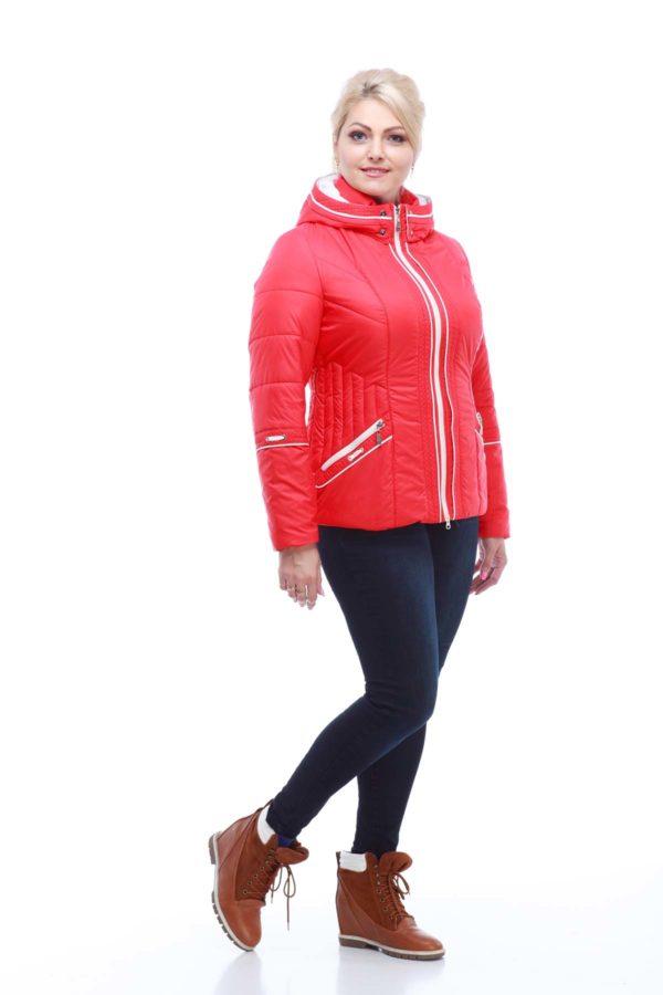Куртка Кира 2 ярко-красный матовый