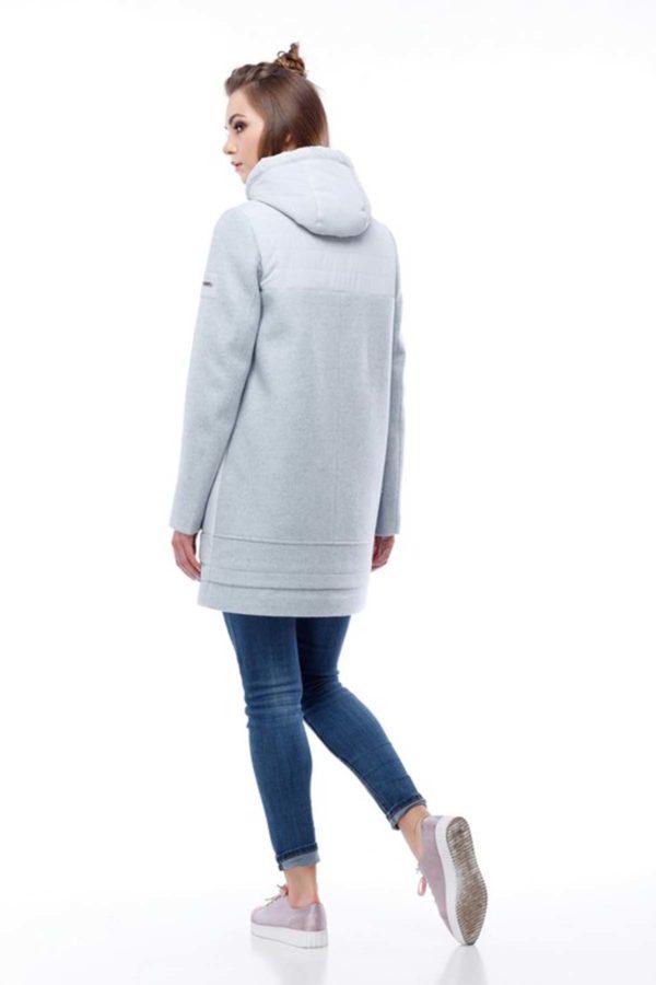 Пальто Эмма светло серый серо-голубой nick ful dal