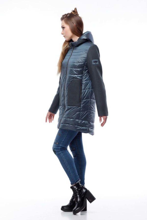 Купить пальто оптом Эрика темная бирюза+бискайский залив nick нейлон