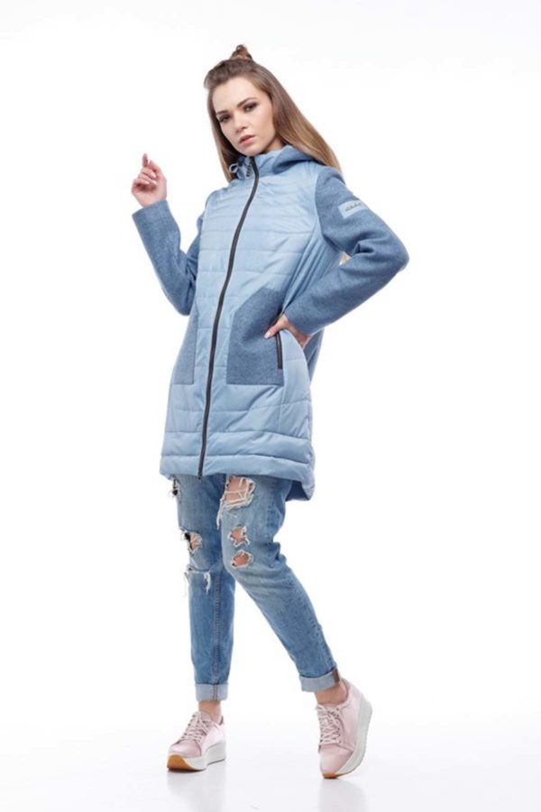 Купить пальто оптом Эрика голубой+голубой nick ful dal