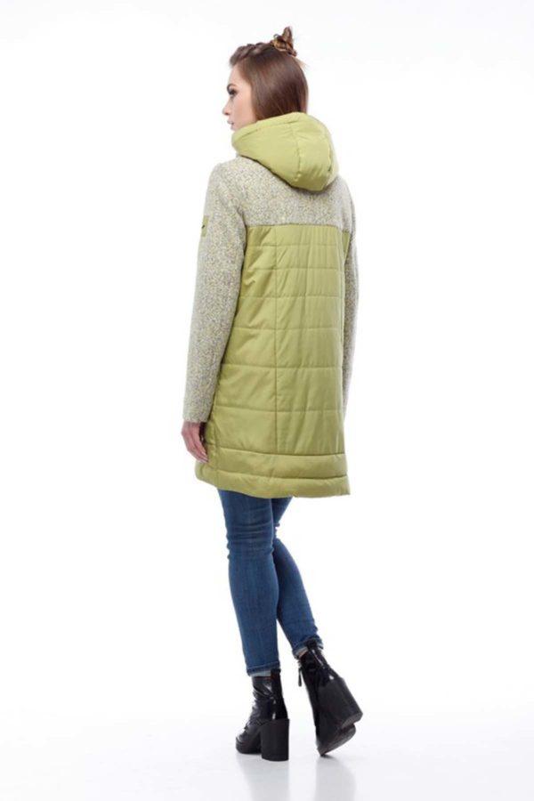 Купить пальто оптом Эрика лайм+лайм меланж трикотаж ful dal