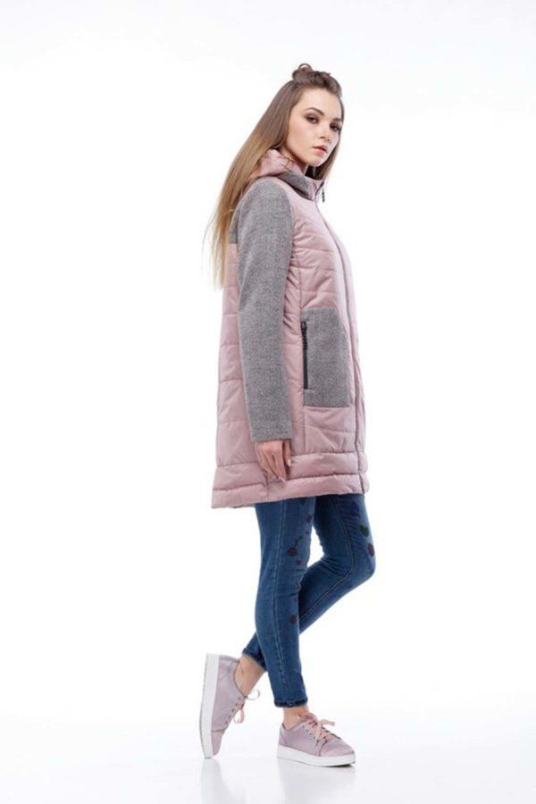 Купить пальто оптом Эрика темная пудра+серо-розовый nick ful dalКупить пальто оптом Эрика темная пудра+серо-розовый nick ful dal
