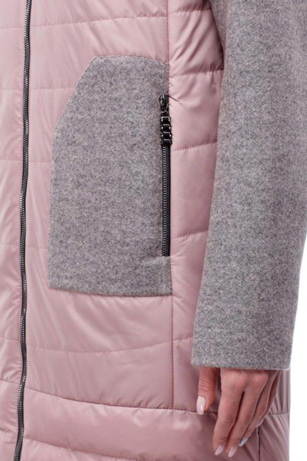 Купить пальто оптом Эрика темная пудра+серо-розовый nick ful dal