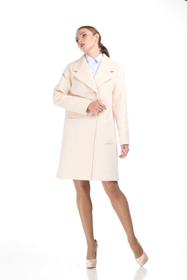 купить пальто оптом от производителя Шерсть Италия молоко