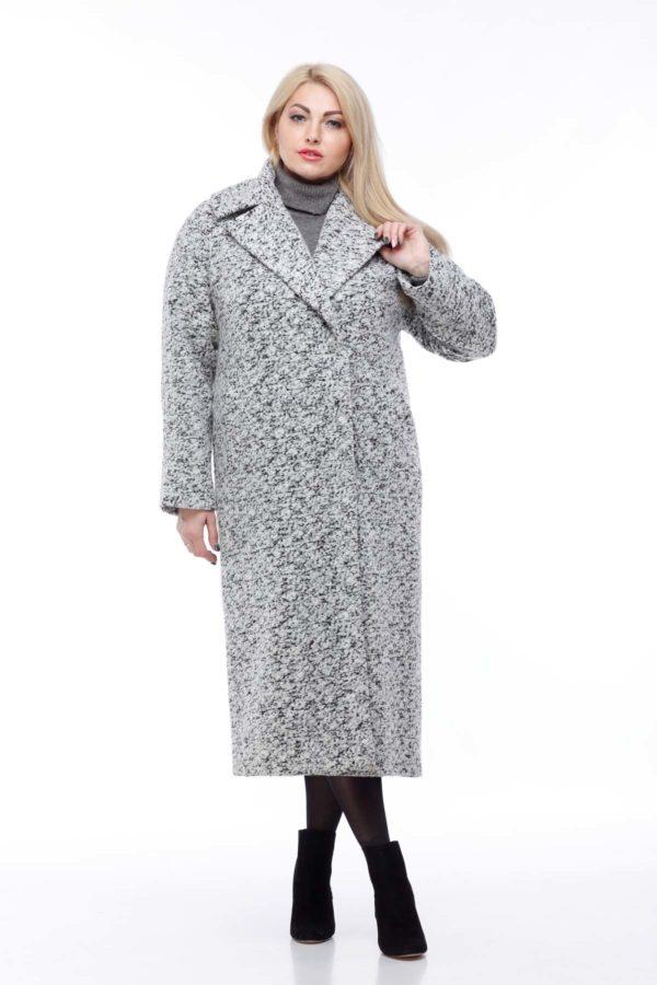 Купити пальто Ніколетта Шерсть Італія чорно-біле букле