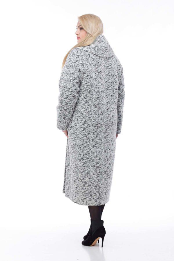Купить пальто Николетта Шерсть Италия черно-белое букле
