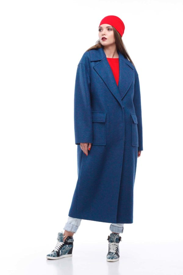 купить пальто женское весна-осень Стефани Шерсть Италия изумруд
