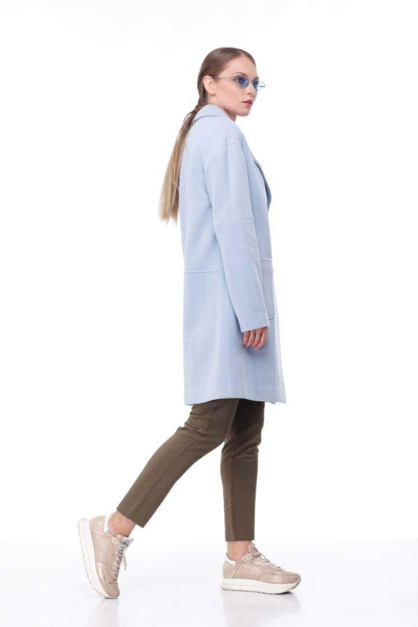 купити пальто оптом від виробника Шерсть Італія блакитна