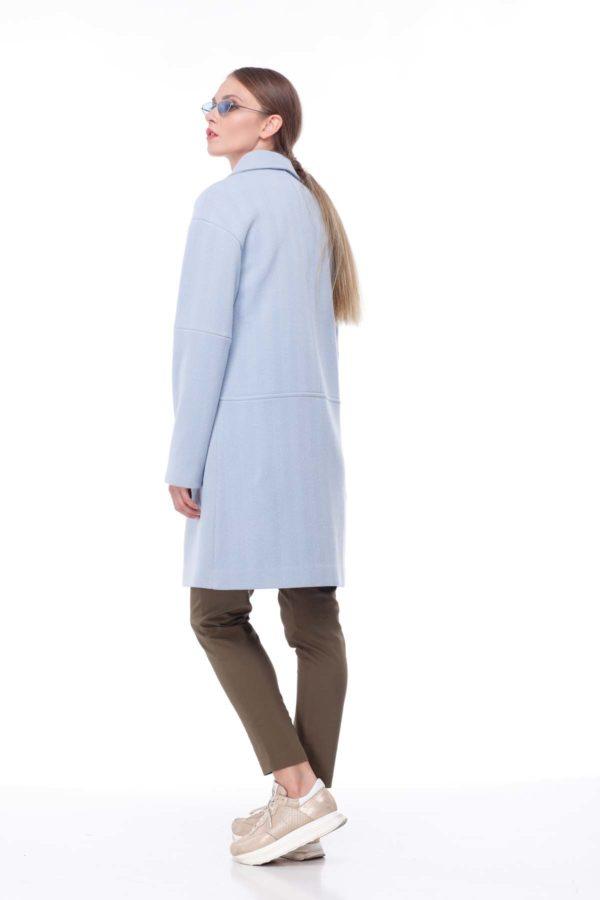 купить пальто оптом от производителя Шерсть Италия голубая