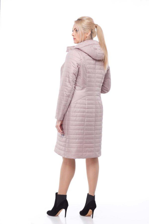 купить стеганое пальто весна Софи-2 Чайная роза memory oil