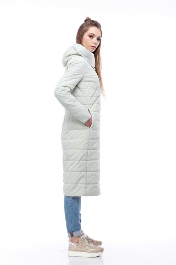 купить стеганое пальто от производителя Сима светлая оливка+светлая оливка ammy