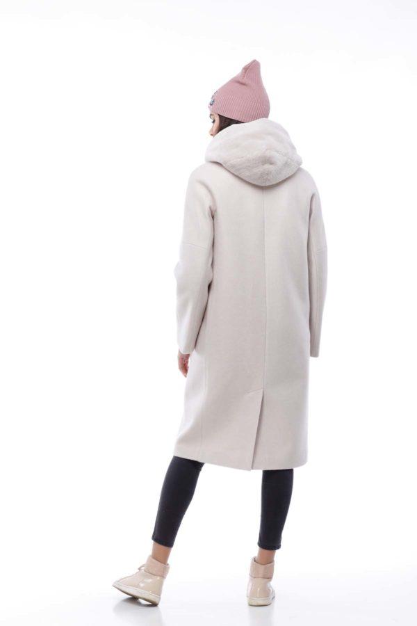 Зимове пальто Манхеттен NEW, шерсть nick зефірний
