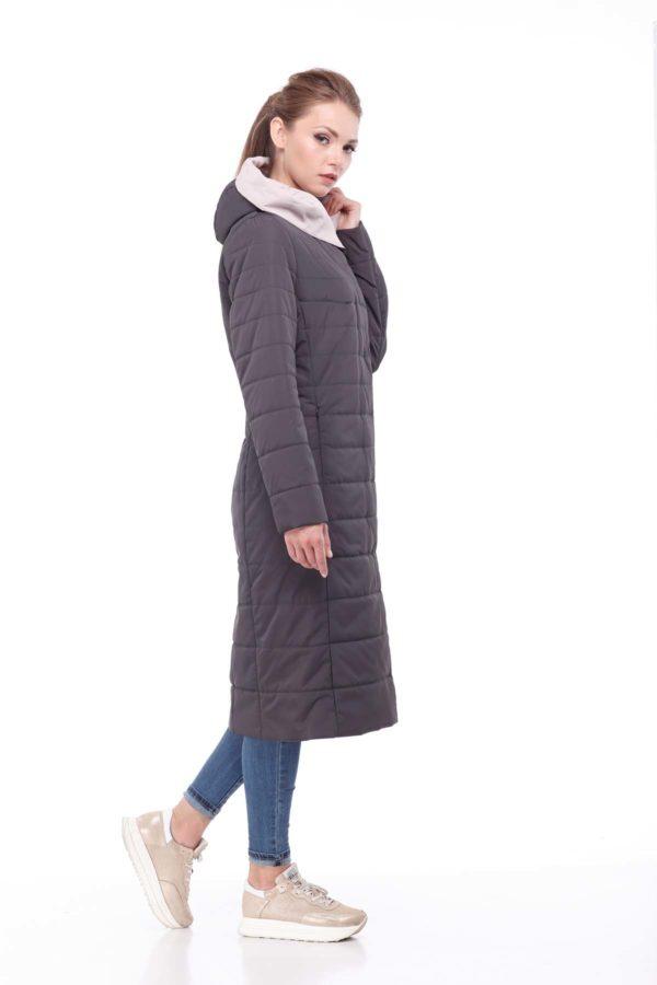 купить стеганое пальто от производителя Сима графит пудра ammy