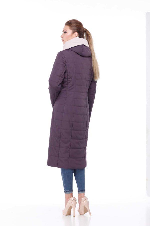 купить стеганое пальто от производителя Сима амарант пудра ammy