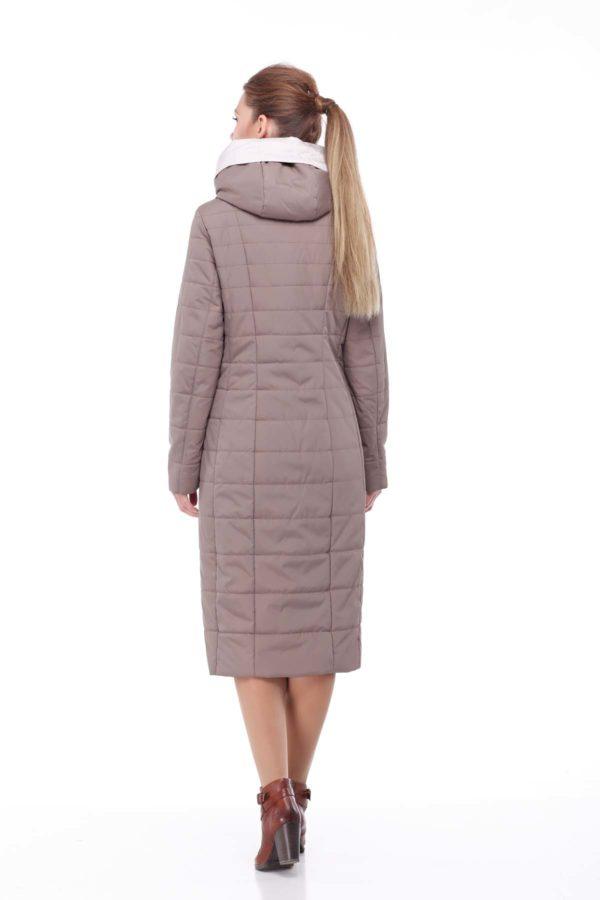 купить стеганое пальто от производителя Сима темный серенево дымчатый ful dal