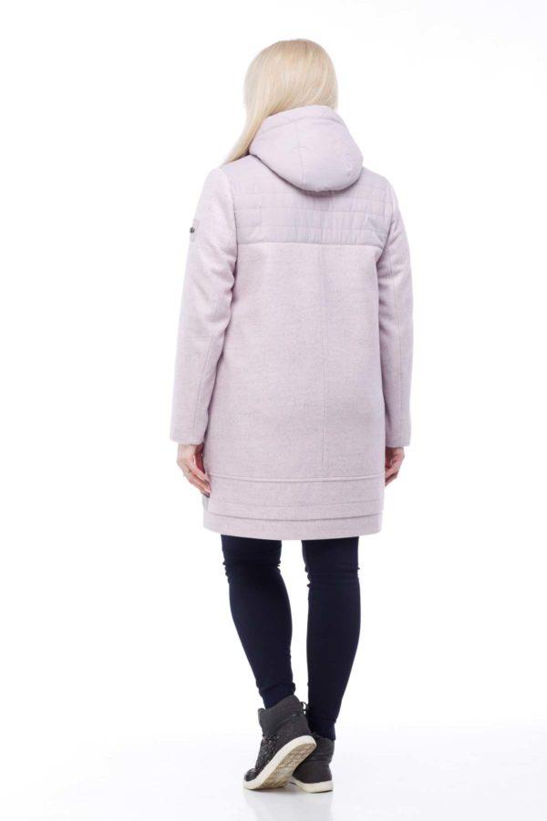 Пальто Эмма большой размер ful dal светлая сирень