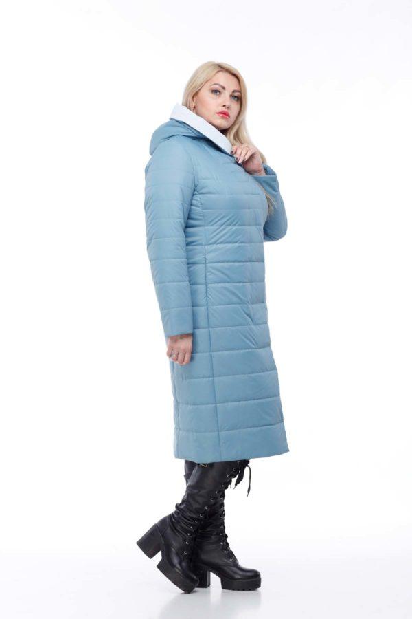 купить стеганое пальто от производителя Сима морской зеленый светло серый ful dal