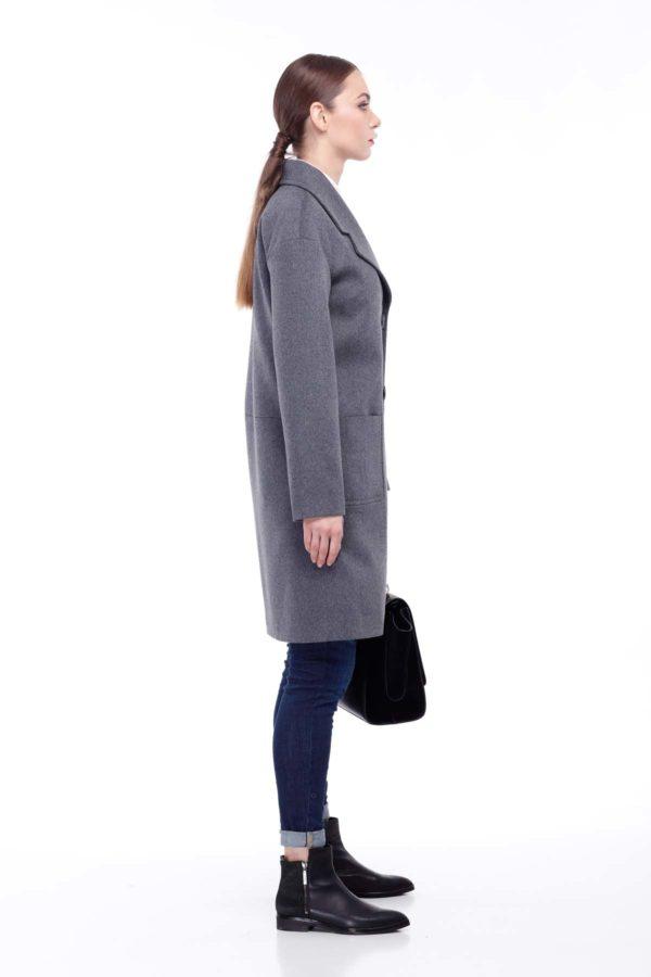 купити пальто оптом від виробника Орсола Шерсть Туреччина сіро-синій відібрані