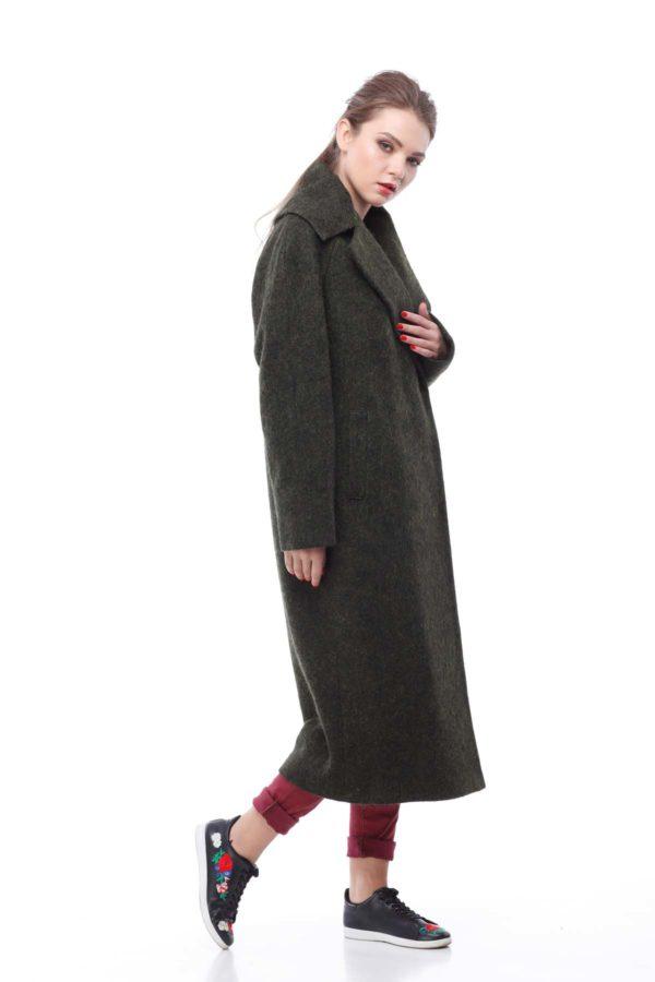 Пальто Ніколетта, вовна ворсова Італія хакі