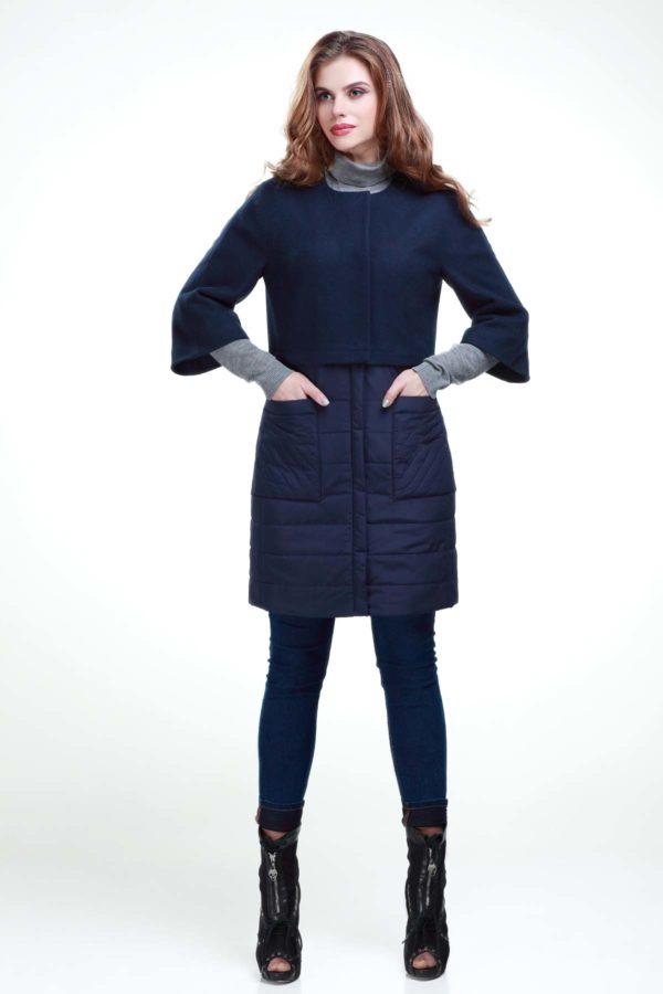 Пальто Тіффані темно-синій