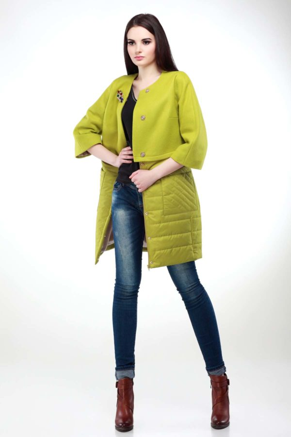 Пальто Тіффані зелений лайм